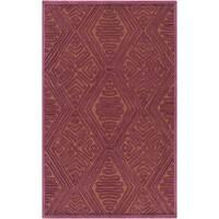 Hand-Woven Oldbury Tax tured Indoor Wool Area Rug - 2' x 3'