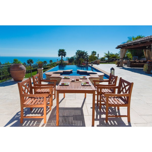 Malibu Eco Friendly 5 Piece Wood Outdoor Dining Set V98set6