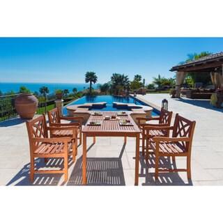 Malibu Eco-Friendly 5-Piece Wood Outdoor Dining Set V98SET6