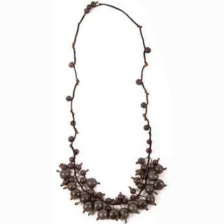 Faire Collection Cloud Forest Necklace in Soft Gray (Ecuador)
