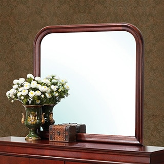 Louis Philipe Cherry Wood Finish Mirror