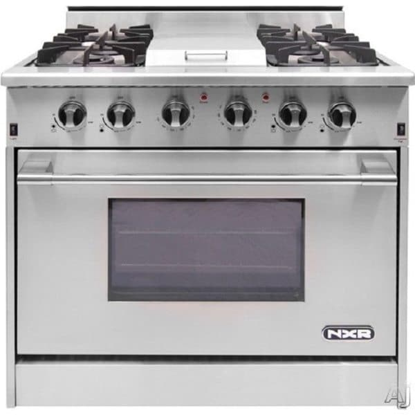 Nxr Professional Gas Range 36 Inch 4 Burners With Griddle