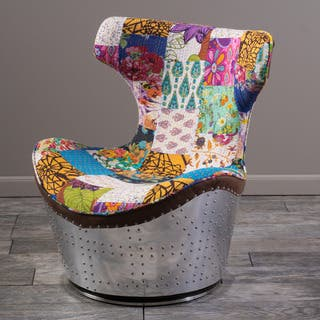 Christopher Knight Home Frazier Patchwork Fabric Swivel Chair|https://ak1.ostkcdn.com/images/products/10062539/P17207508.jpg?impolicy=medium