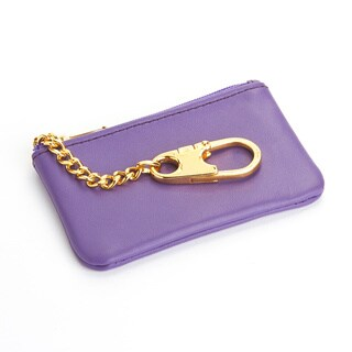 Royce Leather Nappa Genuine Leather Slim Coin and Key Holder