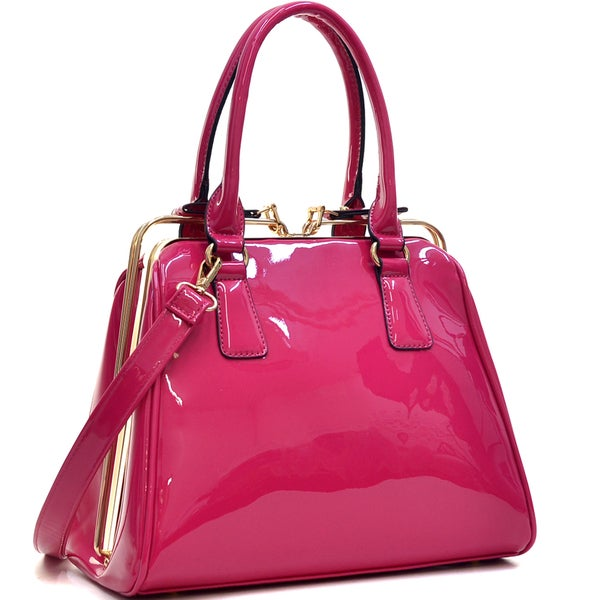 Dasein Faux Leather A Frame Satchel