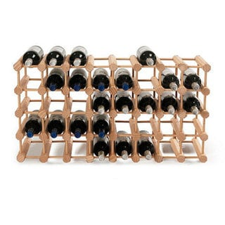 Shop Wine Enthusiast Natural Modular 40 Bottle Wine Rack