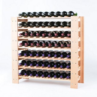 Wine Enthusiast Natural Swedish 63-Bottle Wine Rack