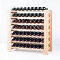 Wine Enthusiast Natural Swedish 63-Bottle Wine Rack