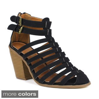 TOI ET MOI Women's Tiramisu-01 Strappy Closed Toe High Heel Sandal