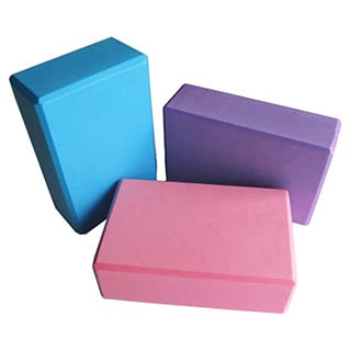 Yoga Alignment Foam Block Set (Set of 2) (Option: Pink)