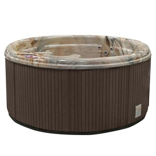 American Spas 5-person 11-Jet Round Spa with Multi Color Spa Light