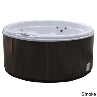 American Spas 5-person 11-Jet Round Spa with Multi Color Spa Light (Option: Off-white)
