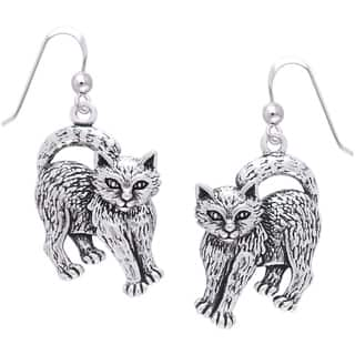 Sterling Silver Playful Kittens Dangle Earrings|https://ak1.ostkcdn.com/images/products/10062609/P17207534.jpg?impolicy=medium