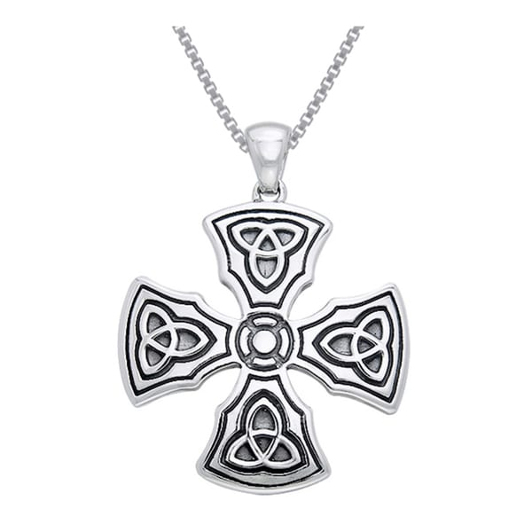 Sterling silver celtic trinity knights templar cross pendant free sterling silver celtic trinity knights templar cross pendant aloadofball Image collections