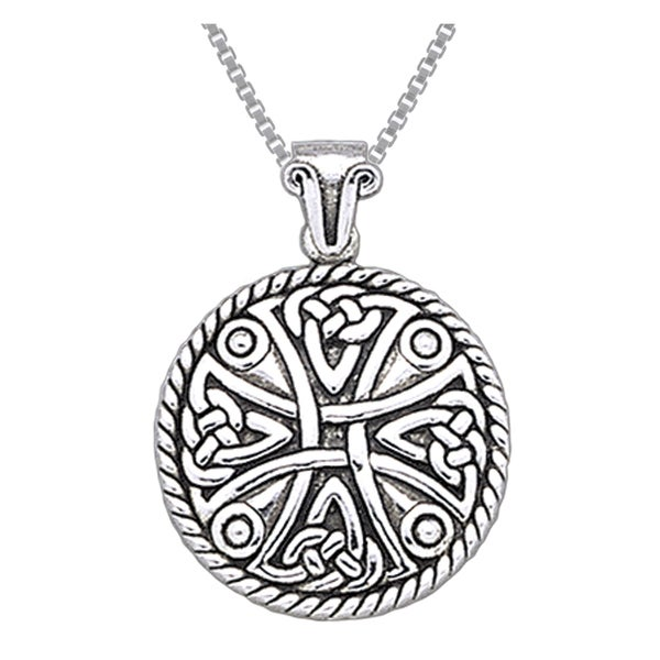 Carolina Glamour Collection Sterling Silver Celtic Cross Amulet Pendant