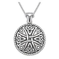 Sterling Silver Celtic Cross Amulet Pendant