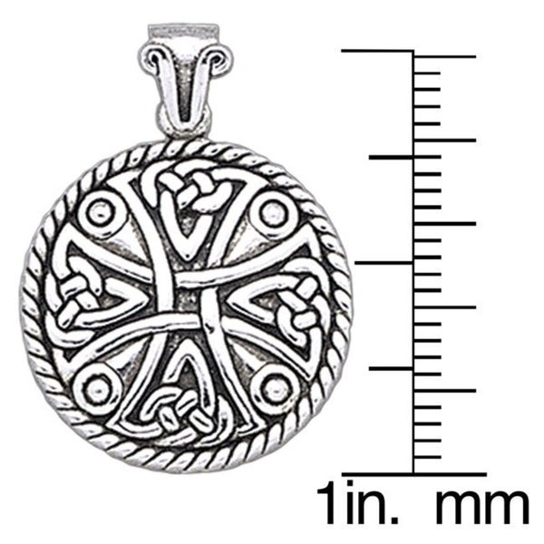 Knight of the Templar Celtic Sterling Silver Pendant by Peter Stone Fine Jewelry