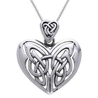 Carolina Glamour Collection Sterling Silver Celtic Heart Pendant