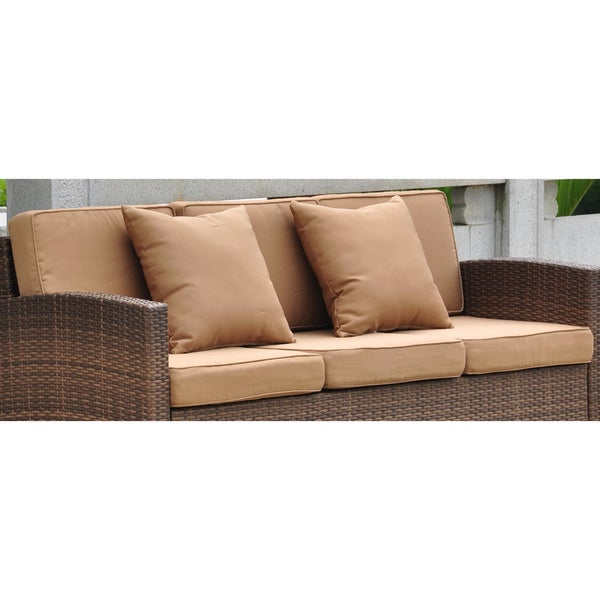 International Caravan Corded Replacement Cushions And Pillows For Barcelona Sofa Set Of 8