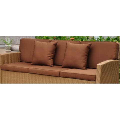 International Caravan Corded Replacement Cushions and Pillows for Valencia Sofa (Set of 8)