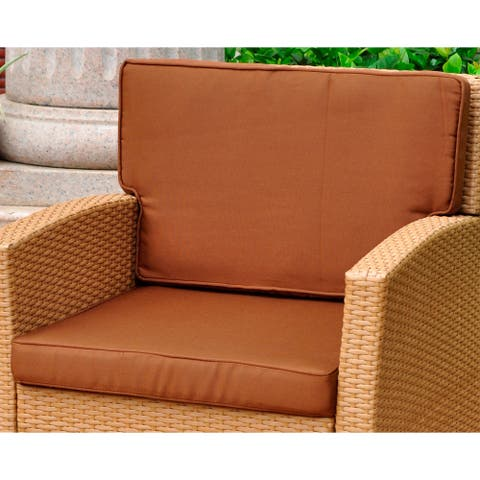 International Caravan Corded Replacement Cushions for Valencia Chair (Set of 2)