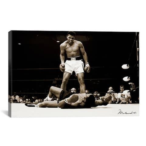 iCanvas Muhammad Ali Vs. Sonny Liston Canvas Print Wall Art