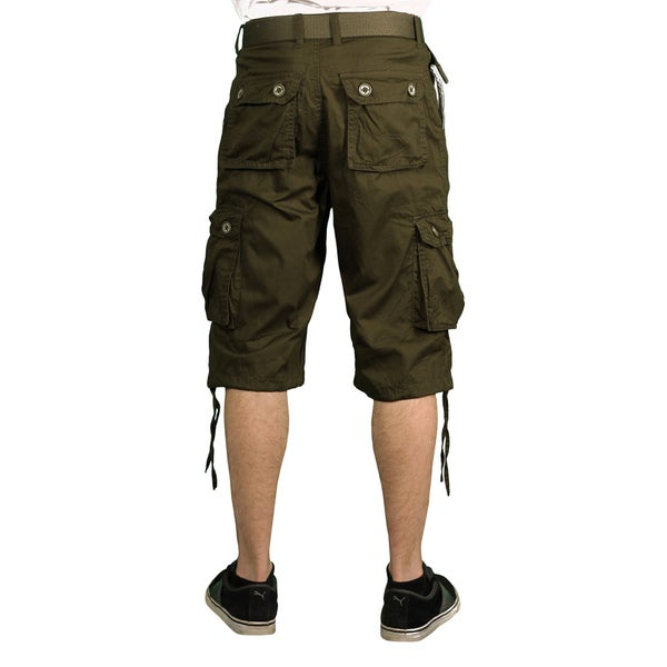 Nicelly Mens Casual Washed Classics Camouflage Twill Cargo Short Pants