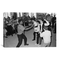 iCanvas The Beatles in Ring with Muhammad Ali Canvas Print Wall Art