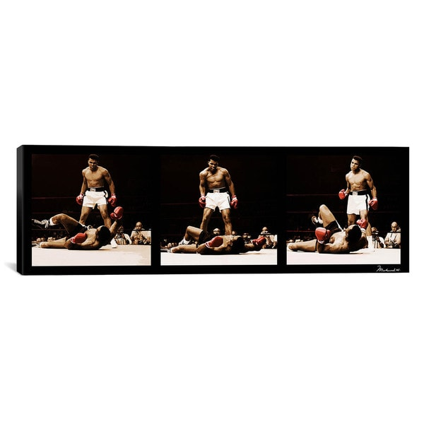 iCanvas Three Muhammad Ali Vs. Sonny Liston Canvas Print Wall Art