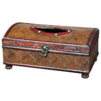 Antique Style Wooden Tissue Box
