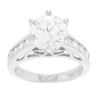 Sterling Silver Cubic Zirconia Wedding Ring