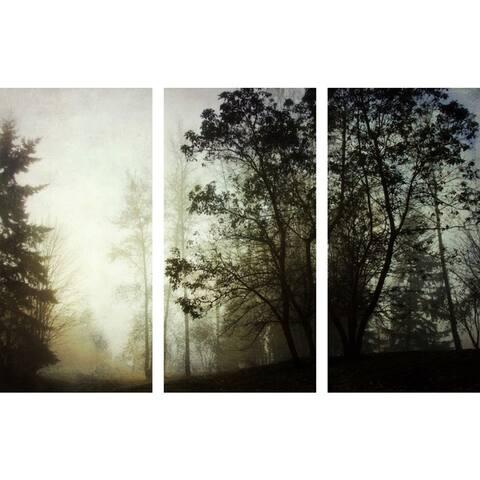 Marmont Hill - Handmade Foggy Triptych Canvas Art