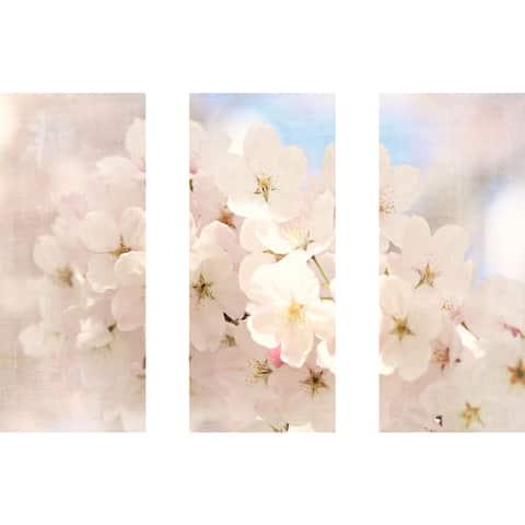 Marmont Hill - Handmade Spring Has Begun Triptych Canvas Art