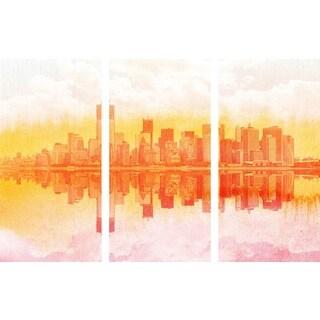 Marmont Hill 'New York New York Triptych' Canvas Art