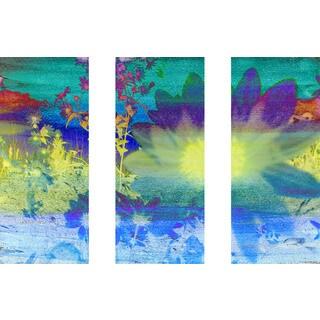 Marmont Hill 'Living Color Triptych' Canvas Art