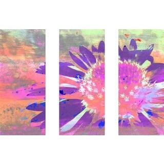 Marmont Hill 'Bold Flower Triptych' Canvas Art