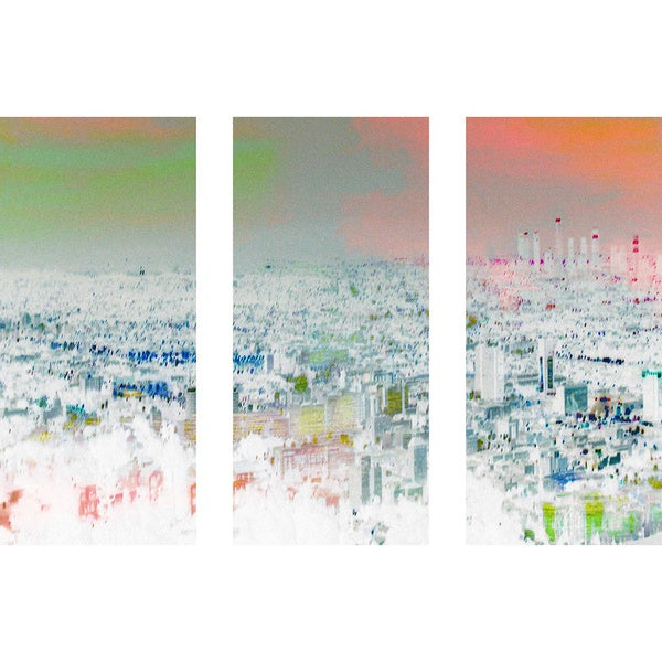Marmont Hill - Handmade Aluminum City Triptych Canvas Art