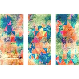 Marmont Hill 'Mix Mash Triptych' Canvas Art