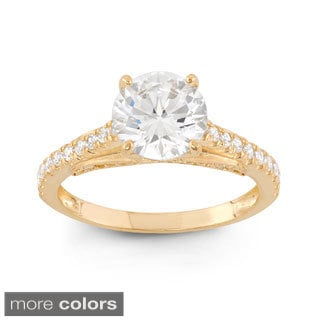 10k Gold 3 1/2ct TGW Round-cut Cubic Zirconia Ring