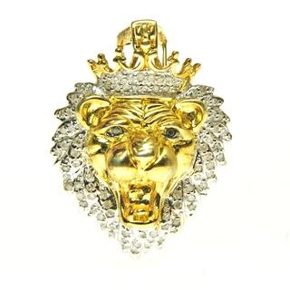 Sterling Silver Diamond Accent Lion Head Necklace https://ak1.ostkcdn.com/images/products/10063135/P17208000.jpg?impolicy=medium