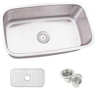 30-inch Single Bowl Undermount Stainless Steel Kitchen Sink Combo