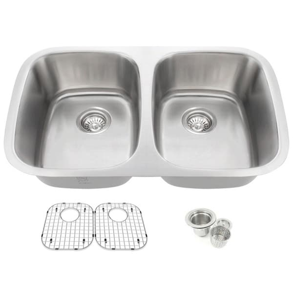 25 inch undermount kitchen sink shop 32 25 inch offset 50 50 bowl undermount 7307