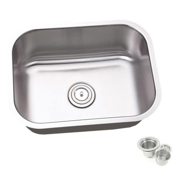 25 inch undermount kitchen sink shop 23 25 inch single bowl undermount stainless steel 7307