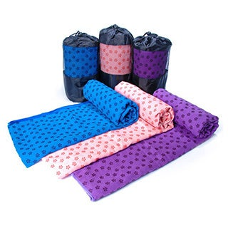 Non-skid Yoga Towels with Carrying Bag (Option: Pink)