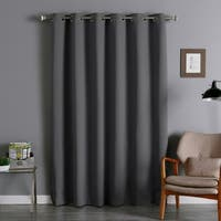 Aurora Home Thermal Insulated 84-inch Extra-wide Blackout Curtain Panel