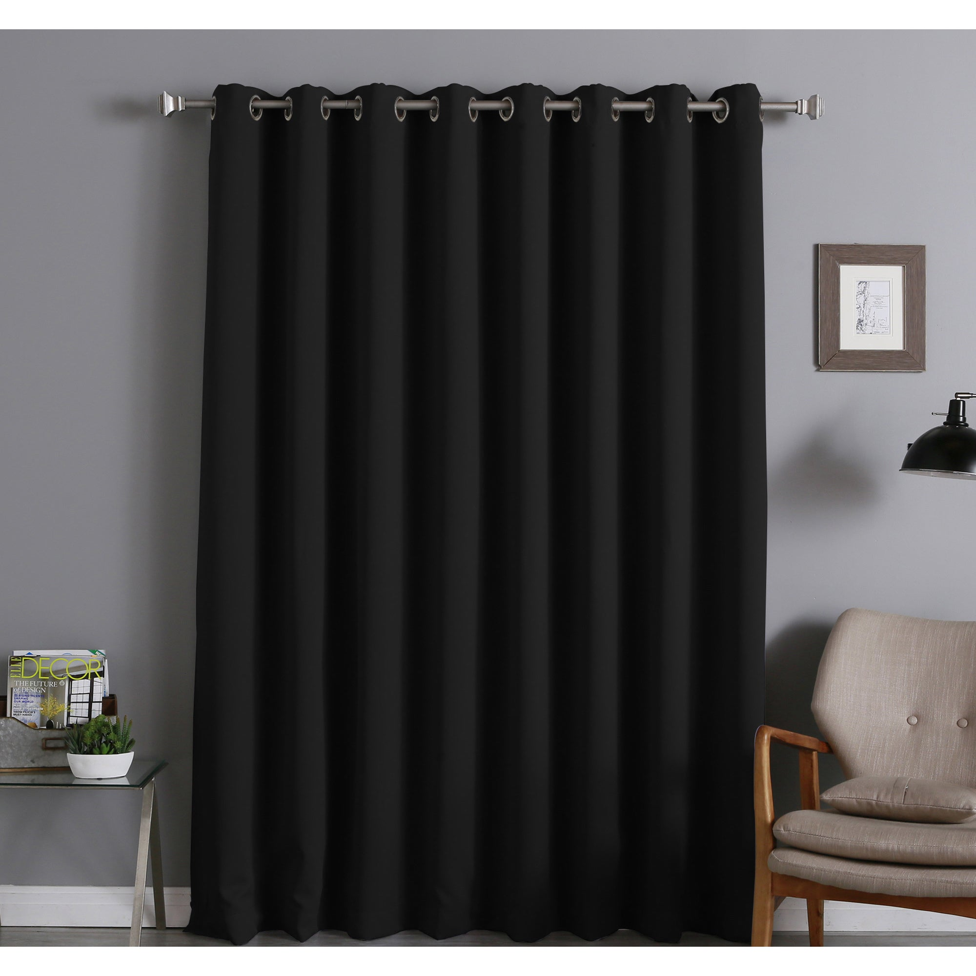 aurora home extra wide thermal insulated 96 inch blackout curtain panel 100 x ebay. Black Bedroom Furniture Sets. Home Design Ideas