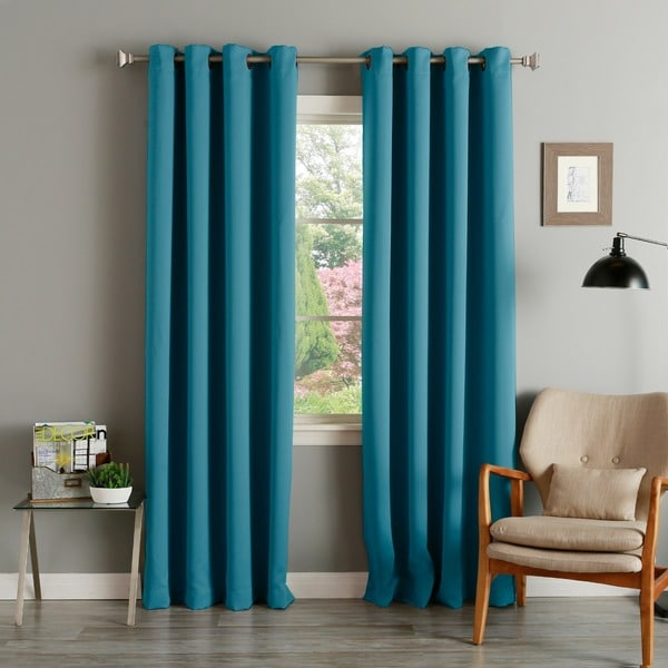 eyelet thermal chevron blackout herringbone curtain style teal curtains pair