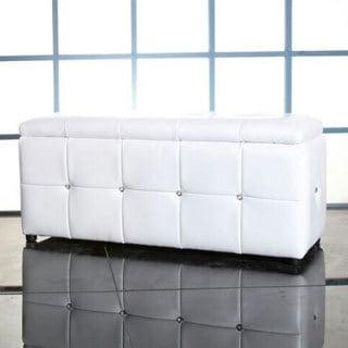 Forza White Storage Ottoman