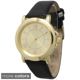 Olivia Pratt Women's Classic Vintage Leather Band Watch