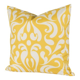 Adele Bright Damask Throw Pillow